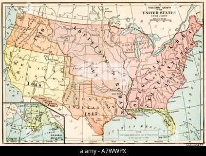 Vintage Map Of United States Stock Photo Royalty Free Image - 1867 us map