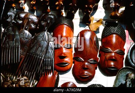 African Masks Zambia Africa Stock Photo 60259552 Alamy