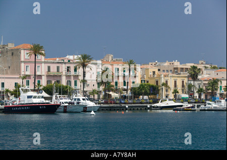 Italy, Sicily, Milazzo, Town View from the Harbor - Stock Photo
