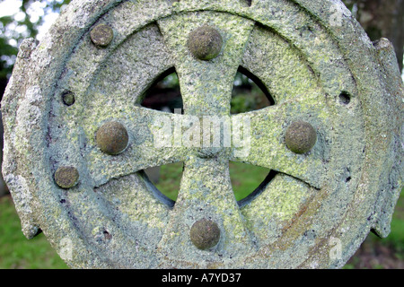 Granite Headstone Roche Church Roche Cornwall Uk Stock Photo