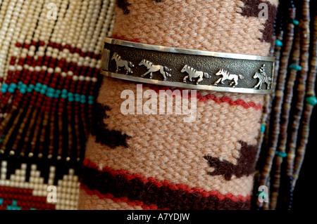 Southwest, American Indian art & handicrafts. Classic Navajo handicrafts. - Stock Photo