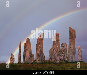 GB - OUTER HEBRIDES: Callanish Standing Stones on the Island of Lewis - Stock Photo