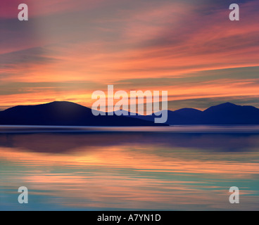 GB - OUTER HEBRIDES: Sound of Taransay seen from Isle of Harris - Stock Photo