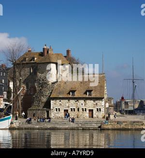 Honfleur Harbour Calvados Normandy France - Stock Photo