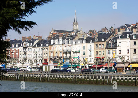 Trouville sur mer and River Touques, Normandy, France - Stock Photo
