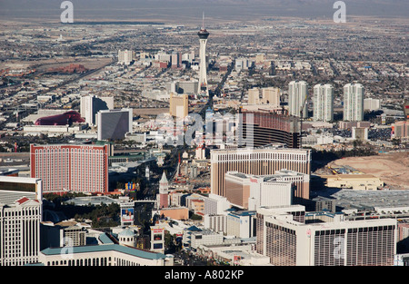 Las Vegas aerial view taken from a blimp - Stock Photo