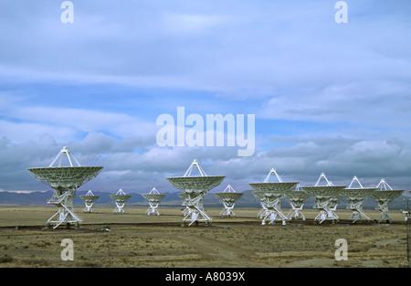 New Mexico, Socorro. Part of the Very Large Array radio telescope of the National Radio Astronomy Observatory - Stock Photo