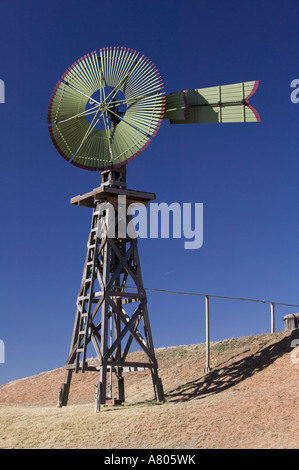 USA, TEXAS, Lubbock: National Ranching Heritage Center Old Windmill - Stock Photo