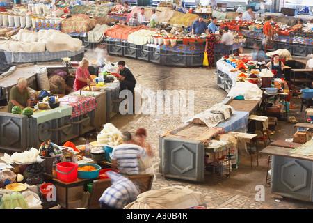 People Working In Chorsu Indoor Bazaar - Stock Photo