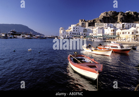 Greece, Dodecanese islands, island of Karpathos, city of Pigadia - Stock Photo