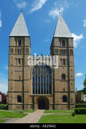 Southwell Minster 12th 14th century Norman Cathedral Nottinghamshire UK England GB - Stock Photo