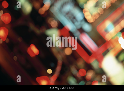 City Lights, New York City, USA - Stock Photo