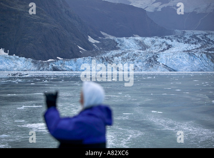 John Hopkins Glacier, Glacier Bay NP, Alaska, USA - Stock Photo