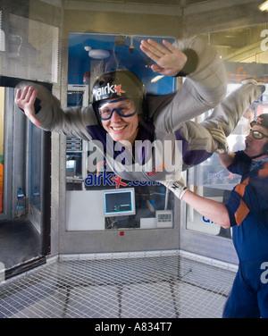 Airkix Indoor skydiving xscape milton keynes - Stock Photo