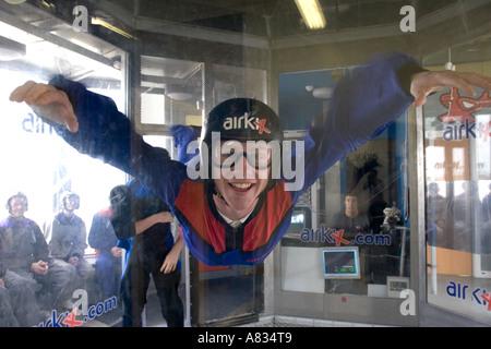 Airkix Indoor skydiving Xscape Milton Keynes Buckinghamshire - Stock Photo