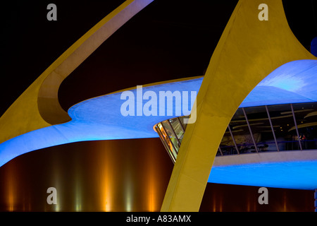 The Theme Building Encounter Restaurant at Los Angeles International Airport - Stock Photo