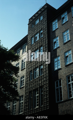 Typical brick architecture in Hamburg, Germany (Department of Justice) - Stock Photo