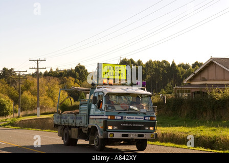 Moving house New Zealand style - Stock Photo