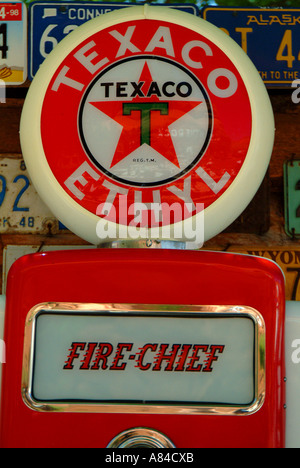Old Texaco Gasoline Pump on display at Hole in the Rock, Utah - Stock Photo