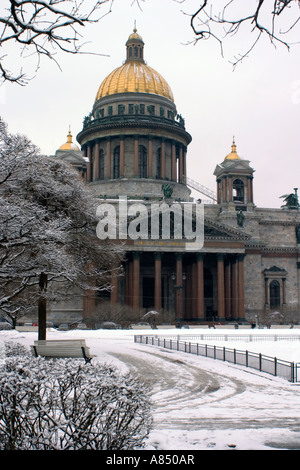 Saint Isaac's Cathedral or Isaakievskiy Sobor, St Petersburg, Russia. - Stock Photo