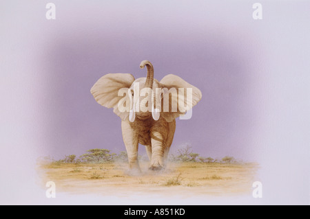 African Elephant illustration. - Stock Photo