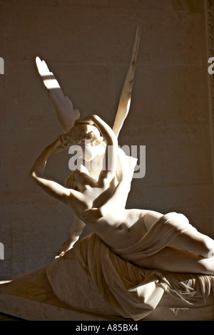 The Awakening Kiss sculpture by Antonio CANOVA 1796 The Louvre Paris France - Stock Photo