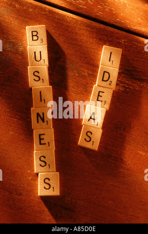 Scrabble letters for business - Stock Photo