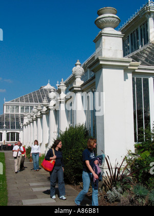 Temperate House Kew Gardens London England Great Britain - Stock Photo