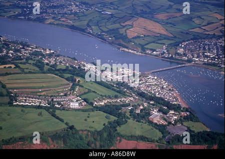 Shaldon & Teignmouth Aerial West Country Devon England UK XPL 6138-480 - Stock Photo