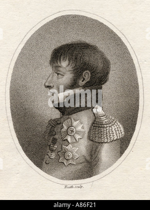 Louis Bonaparte. Late King of Holland, 1778-1846.  Younger brother of Napoleón. - Stock Photo