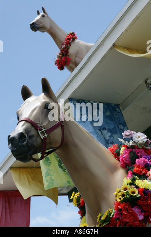 View of a sculpture of a horse. - Stock Photo