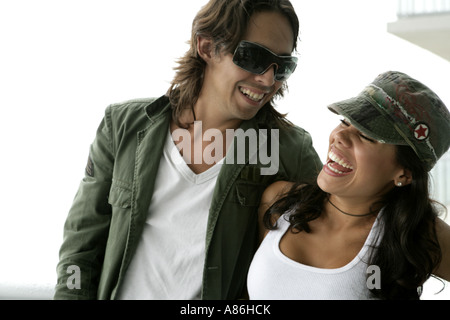 View of a couple having fun. - Stock Photo
