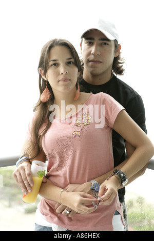 View of a young couple. - Stock Photo
