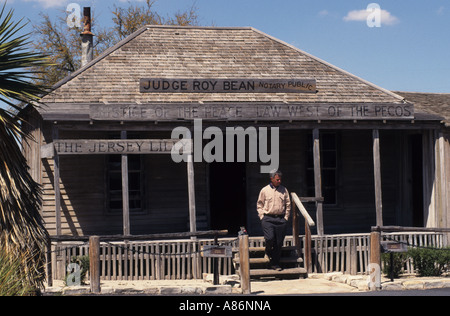 United States Texas USA Langtry Judge Roy Bean's  Courthouse and saloon Jersey Lilly Texas - Stock Photo