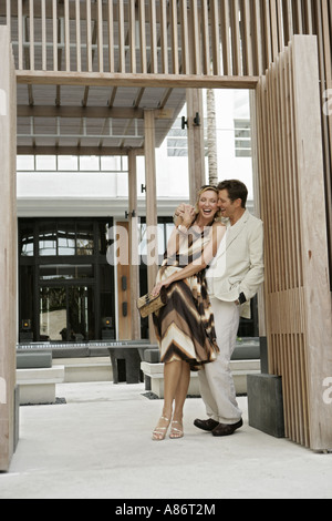 View of a happily couple. - Stock Photo