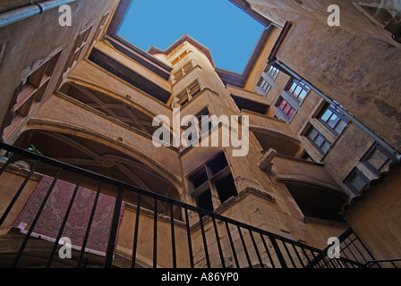 Saint Jean in Sint Jean district Vieux Lyon - Stock Photo