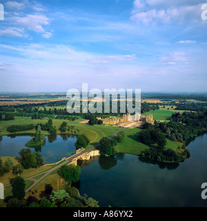 Blenheim Palace Woodstock Oxfordshire UK aerial view - Stock Photo