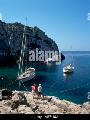 Cales Coves, Menorca, Balearic Islands, Spain - Stock Photo