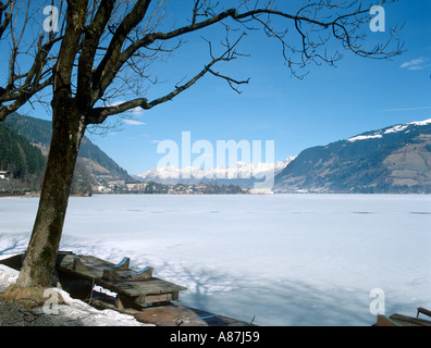 View across the lake from Schuttdorf, Zell am See, Salzburgerland, Austria - Stock Photo