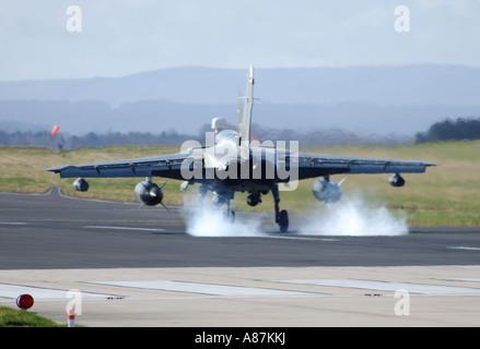Panavia GR4 Tornado landing at RAF Lossiemouth Morayshire - Stock Photo