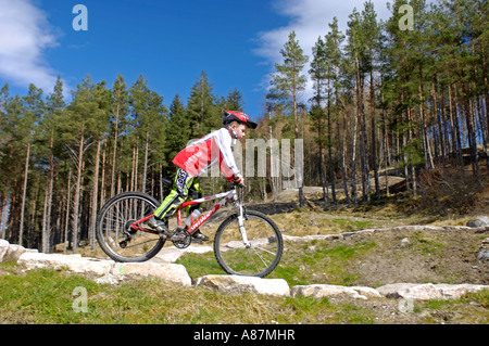 Mountain Biking Centre for all ages Strathmashie Inverness-shire Scotland - Stock Photo