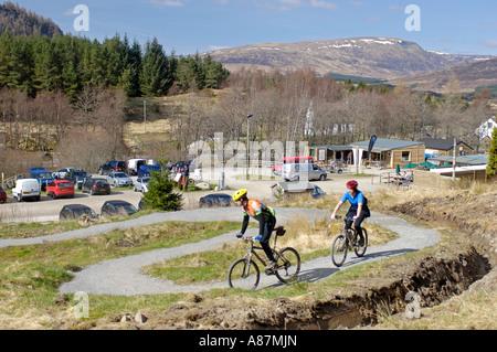 Mountain Biking Centre Wolftrax Base Camp - Stock Photo