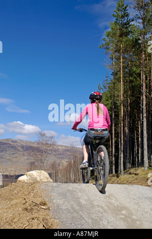 Mountain Biking Centre for all ages Inverness-shire Highlands - Stock Photo