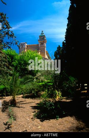 Valldemossa Majorca ( Mallorca ) Balearic Islands Spain Reial Cartoixa Monastery Gardens (la Cartuja) - Stock Photo