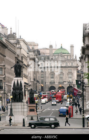 View of Regent Street Picadilly Circus 1 - Stock Photo