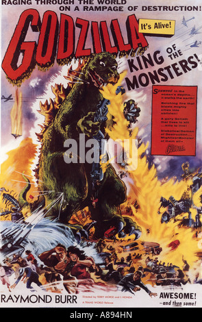 GODZILLA KING OF THE MONSTERS ! poster for 1956 Toho film - Stock Photo