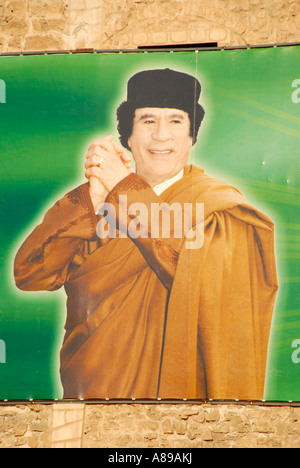 Bill of Muammar al Gaddafi as victor Green Square Tripolis Libya - Stock Photo