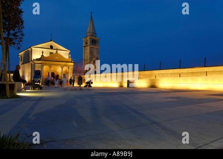 Caorle at the Adria region Veneto Italy pilgrim church Madonna dell´Angelo - Stock Photo