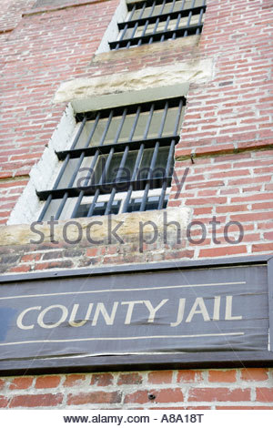 Alabama, AL, South, Bullock County, Union Springs, Prairie Street, Pauly Jail, built 1897, Victorian Gothic, sightseeing - Stock Photo