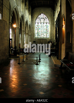 Burford church interior UK - Stock Photo